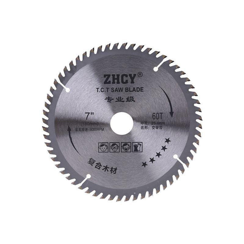180mm 60 dentes lâmina de serra circular carpintaria disco corte super fino cortador de metal 831f