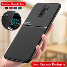 Shockproof Case for Xiaomi Redmi 9 Silicone Skin Back case for Redmi 9 Support Car Magnetic Holder C