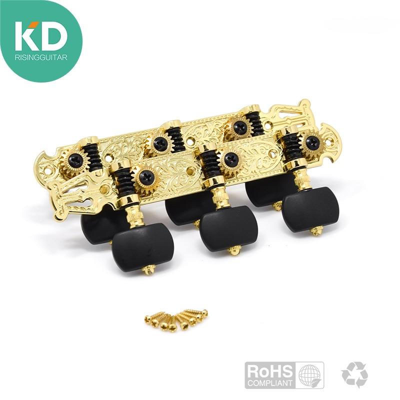 2 PC Per Set High End Classical Guitar Tuning Pegs Machine Heads Tuning keys Gold Color enlarge