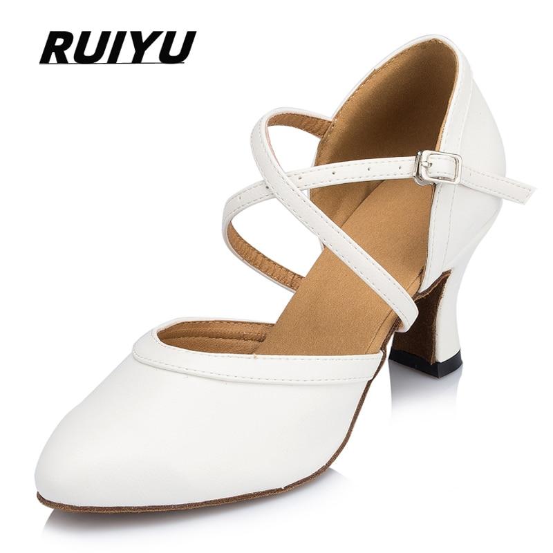 المرأة اللاتينية أحذية الرقص الأبيض مأدبة الزفاف قاعة الرقص التانغو الصلصا عالية الكعب المهنية أحذية رياضية الرقص