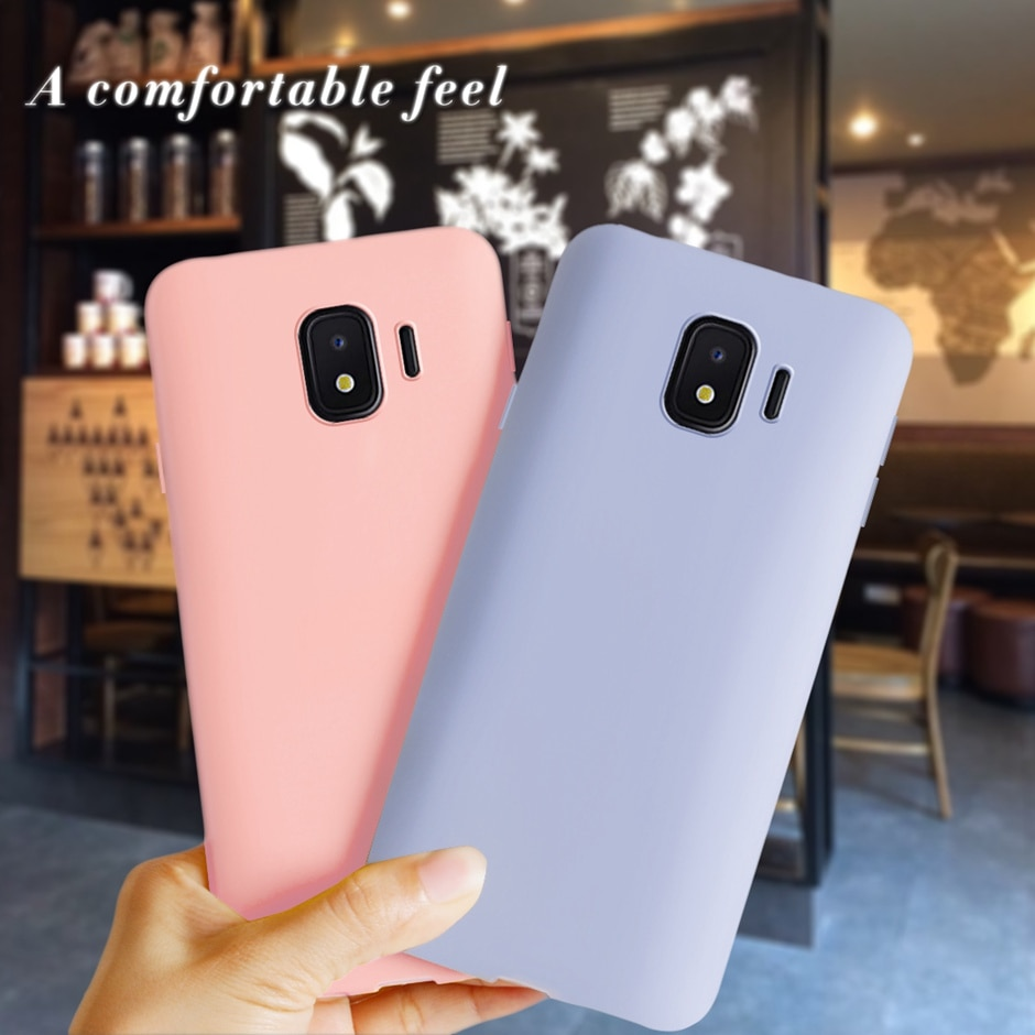 Para Samsung Galaxy J2 Core funda de silicona suave Color caramelo funda de teléfono para Samsung Galaxy J2 Core J260 J260F J2Core cubierta trasera