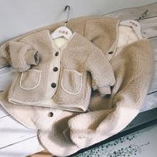 Tenue de famille chaud mère et fille vêtements 2020 maman et moi manteau de fourrure épaissir doublure manteau pour filles maman et moi robe C0695