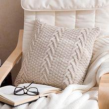Taie doreiller velours respirant confortable carré housse de coussin décor à la maison pour salon chambre canapé voiture 45*45 cm en gros
