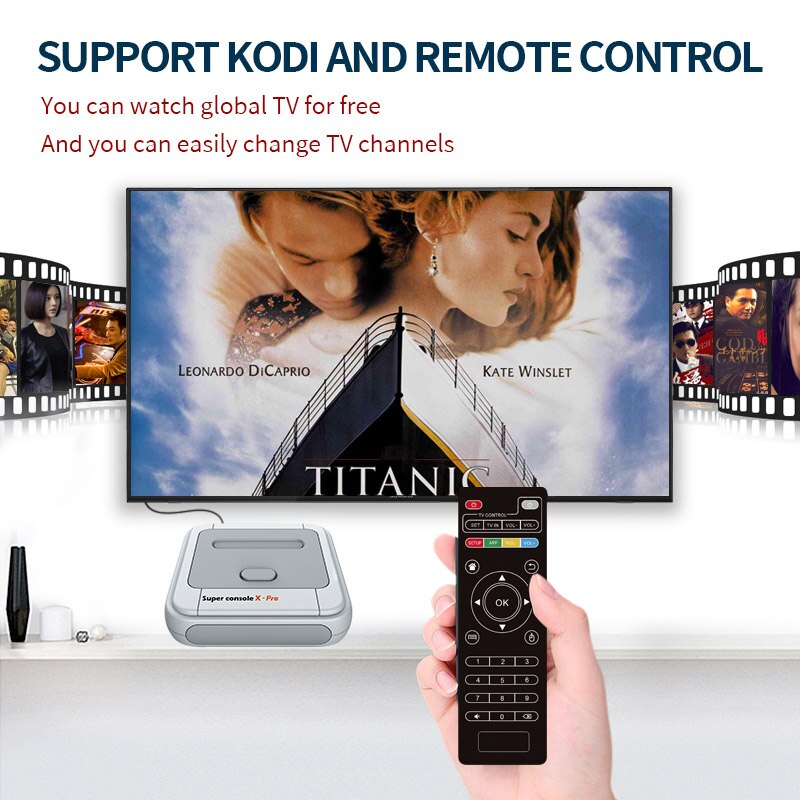 Super Console X Pro S905X HD WiFi Output Mini TV Video Game Player For PSP/PS1/N64/DC Games Dual System Built-in 50000+ Games enlarge