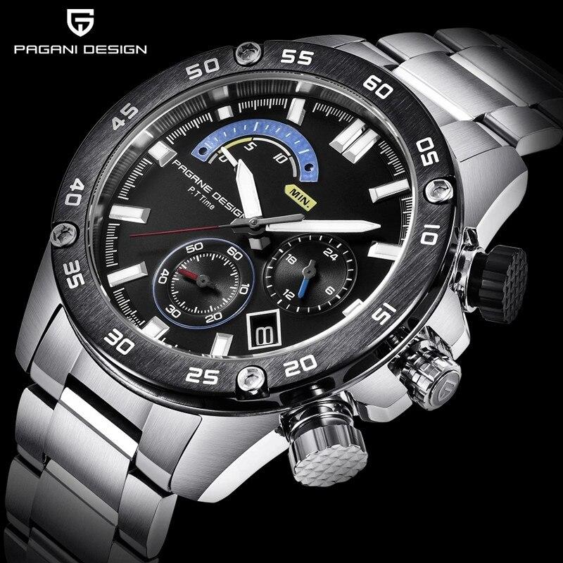 PAGANI DESIGN Quartz Business clock Watches Men Waterproof Sports Luxury Military steel Male WristWatch Casual Relogio Masculino