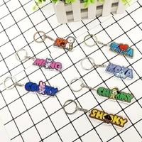 llbts youth league pendant keychain transparent pendant new keyring k pop cute cartoon factory direct sales
