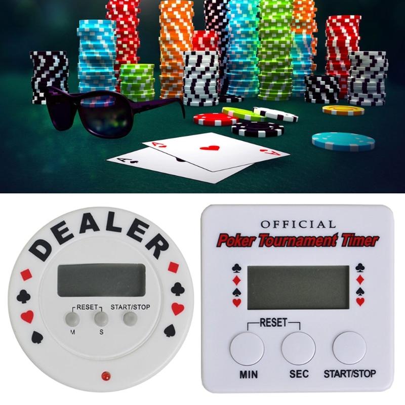 Casino Poker cronómetro para torneos Digital traficante temporizador Negro Jack de Poker Chip