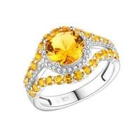 gz zongfa new fashion 4a cubic zirconia handmade wedding ring synthetic gemstone women fine jewelry silver 925 rings