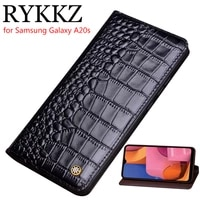 genuine leather flip case for samsung galaxy a20s a2070 cover magnetic case for a20 cases leather cover phone cases fundas
