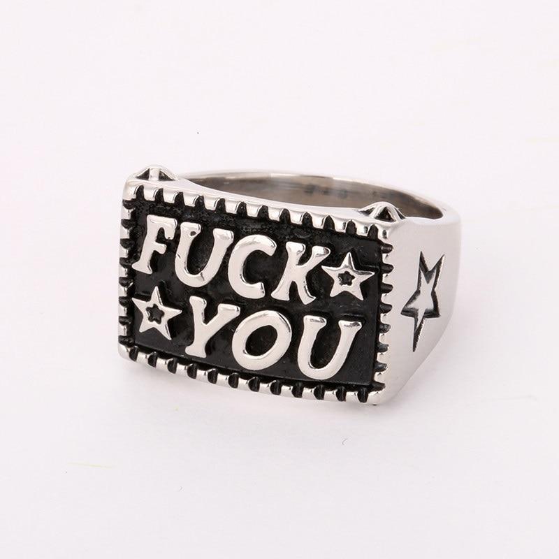 Sin Fin de moda carta anillo estilo masculino de aleación de anillos para las mujeres boda letras iniciales anillo F de estilo Punk A30