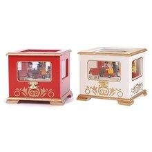 Christmas Wooden Music Box Storage Case Table Home Decoration Wedding Birthday Kids Children Gift