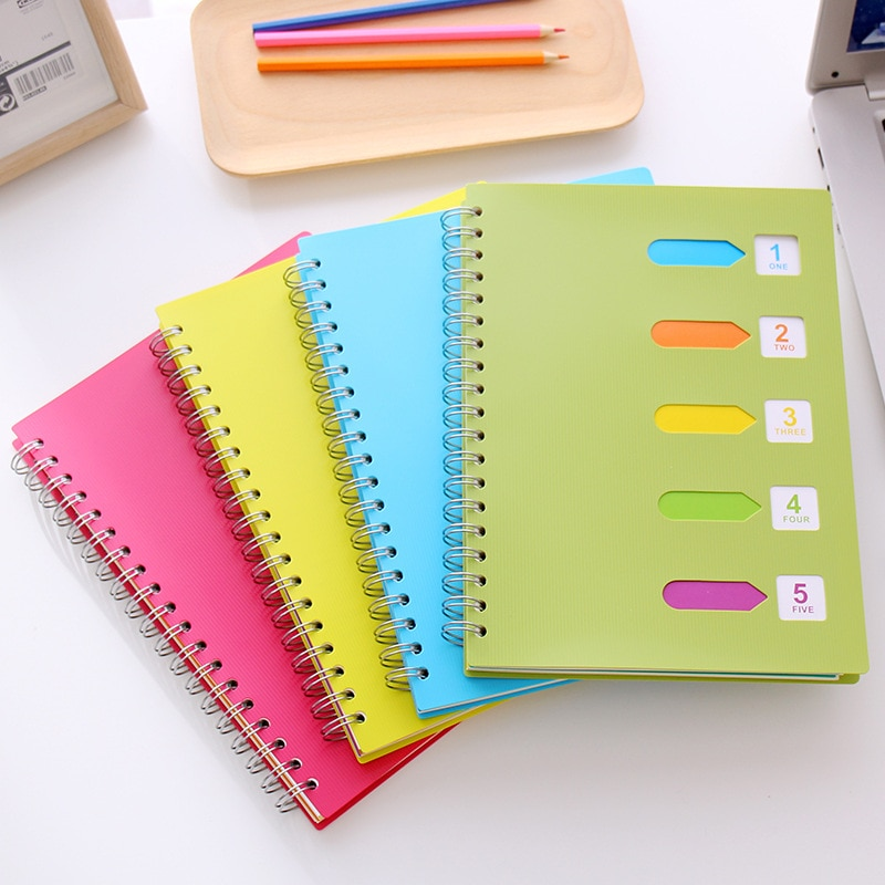 Student Notebooks for Daily Dairy Thickened Color A5 Coil Notebook B5 Spiral Notebook  Classification Student Portable Notebook