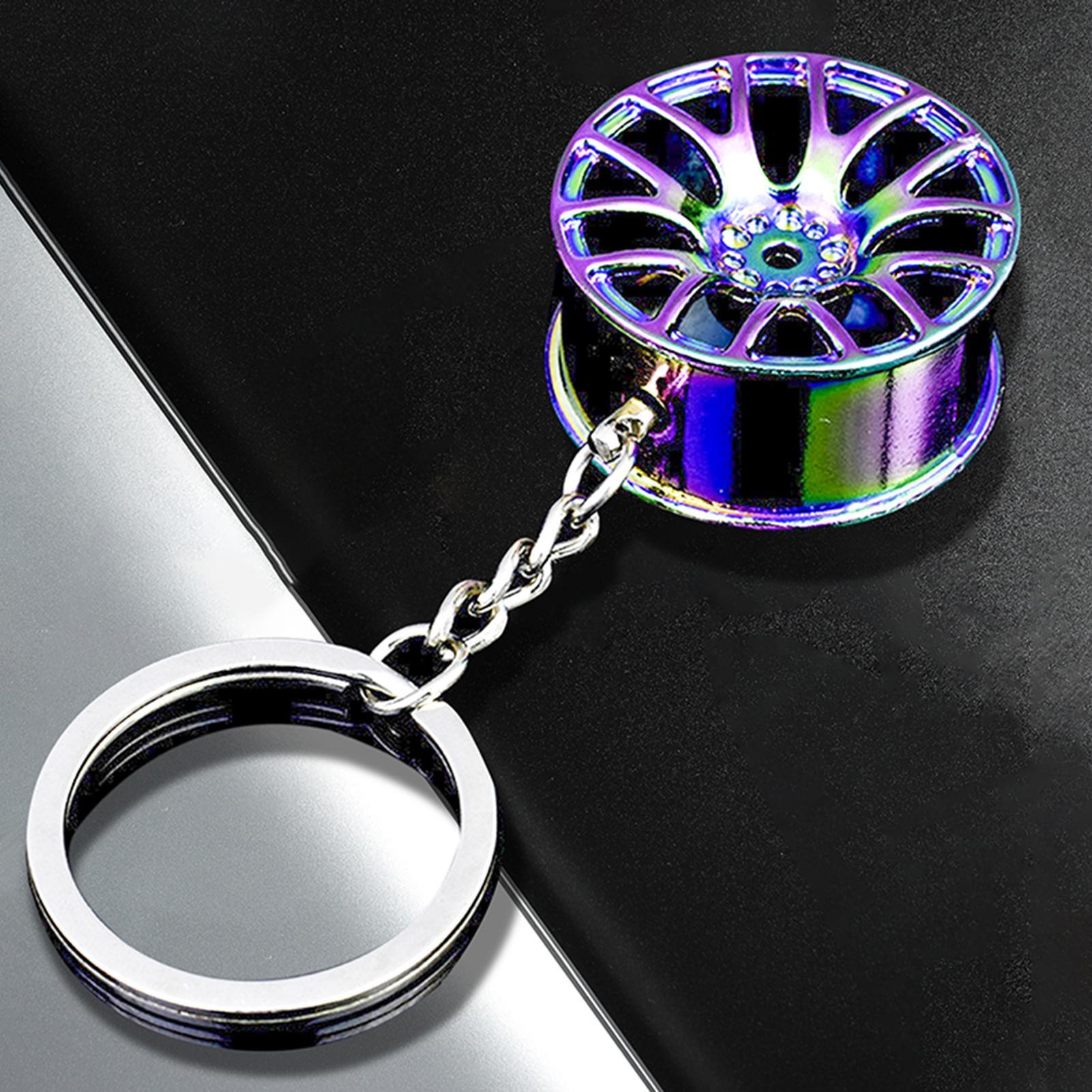 Hot wheel hub Auto Car Key Chain key ring creative wheel rim key chain key holder wheel rim keychain
