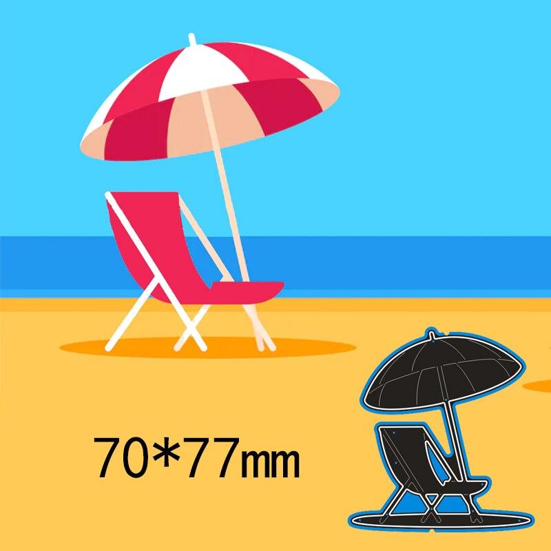 70*77mm חוף כיסא למות חתכים תיקיית כרטיס ביצוע אלבום רעיונות הבלטות מת מתכת DIY הבלטות שבלונות תבנית