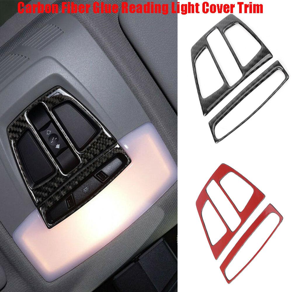 for BMW F20 F30 F34 F32 X1 X5 F15 X6 Dome Reading Light Carbon Fiber Glue Trim Sticker