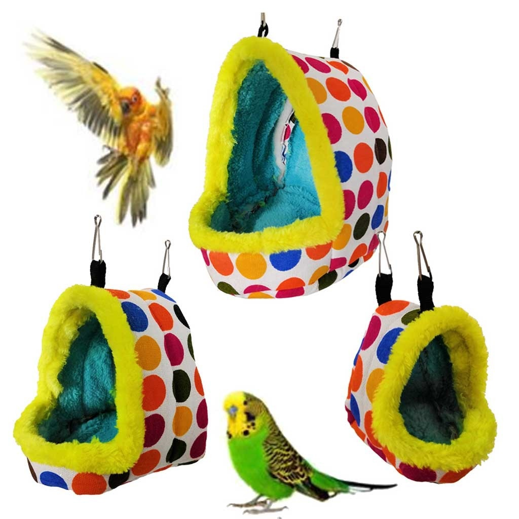 Jaula de pájaro caliente Para invierno, casa colgante y cálido Para cama,...