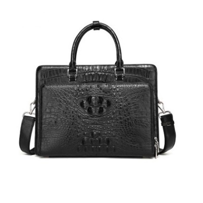hongzhiyan New briefcase men's business handbag Thai real crocodile  leather bag office fashion one shoulder bag men  handbag