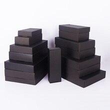5 stücke/10 stücke/Schwarz 3-schicht wellpappe geschenk box Festival party hochzeit verpackung box unterstützt angepasst größe und gedruckt logo