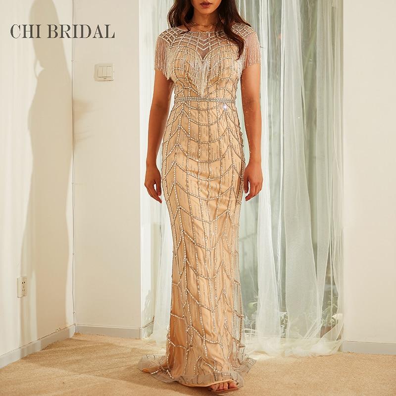 Fringed Shawl-Style Evening Dress Handmade Luxury Prom Dress Showing Perfect Curve Trailing Long Dress Elegant Woman 1005001671059135 фото