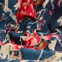 natural environmental protection material hd digital spray silk fabric processing square scarf fabric cloth b270