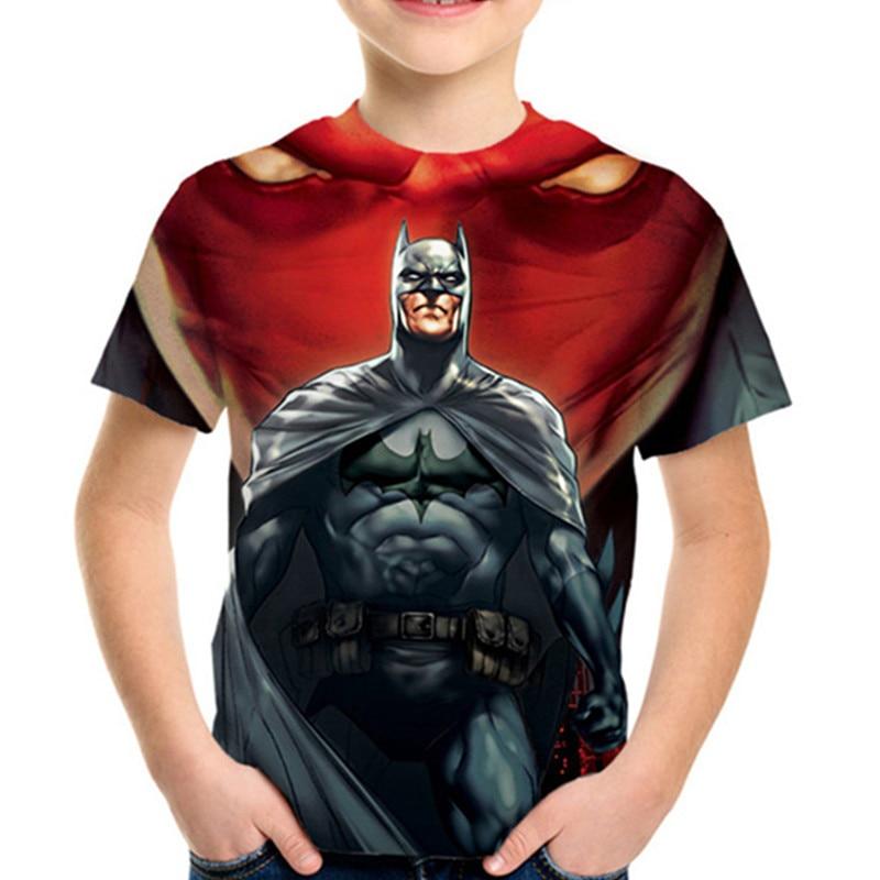 2020 Summer Kids Anime Superhero 3D T-shirt Superman Spiderman Batman Black Panther Print Boys Girls T shirt Children Tshirts