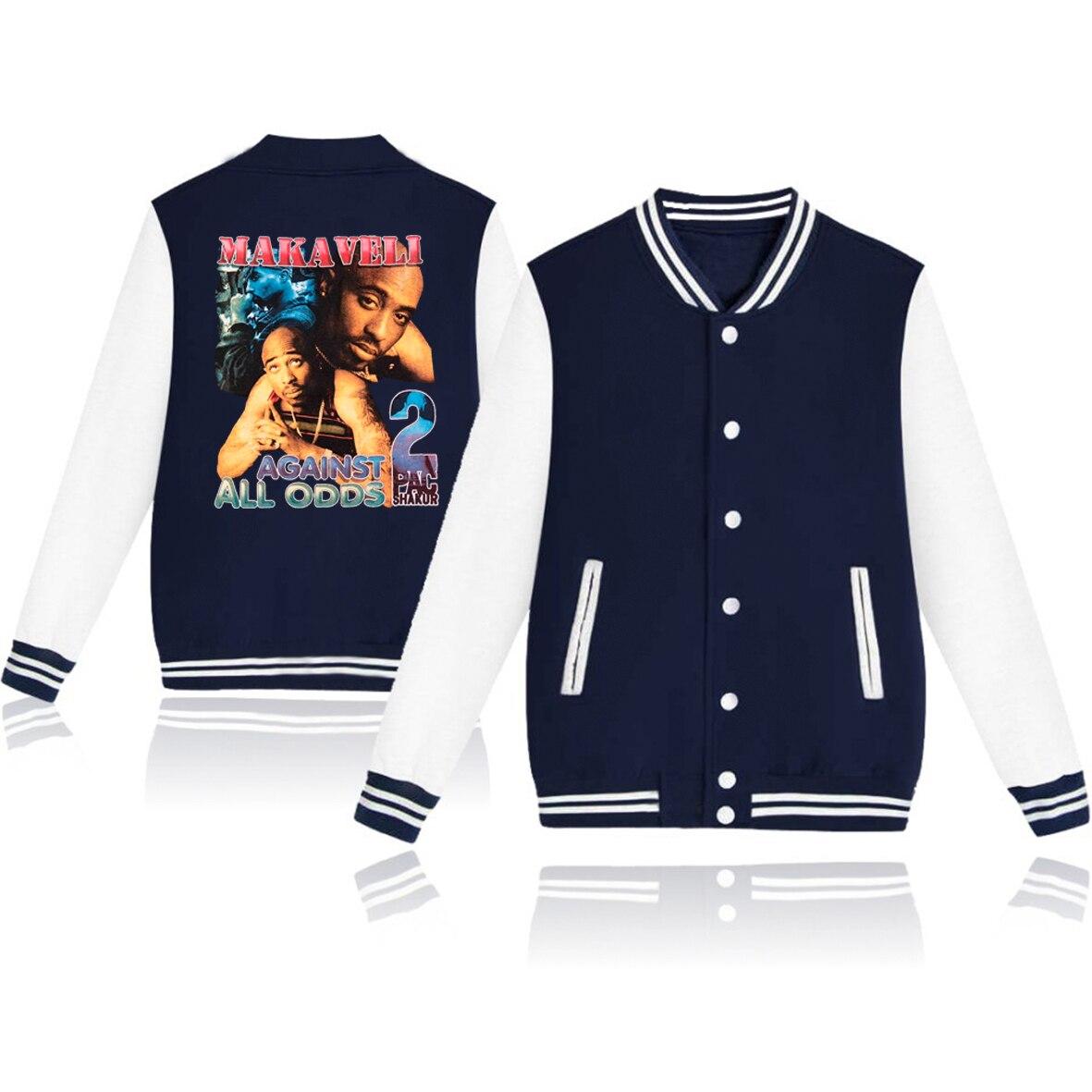 2pac крутая Мужская Куртка Harajuku уличная одежда Jay Z бейсбольные куртки унисекс Зимние куртки Harajuku пэчворк куртка-бомбер Топы