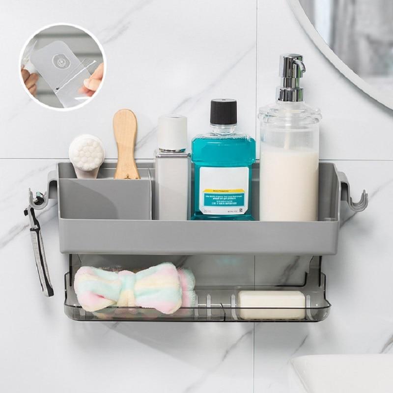 رف جداري للحمام ، بدون حفر ، مطبخ ، قضبان منشفة ، شامبو ، دش ، منظم ، حامل فرشاة الأسنان ، ملحقات الحمام