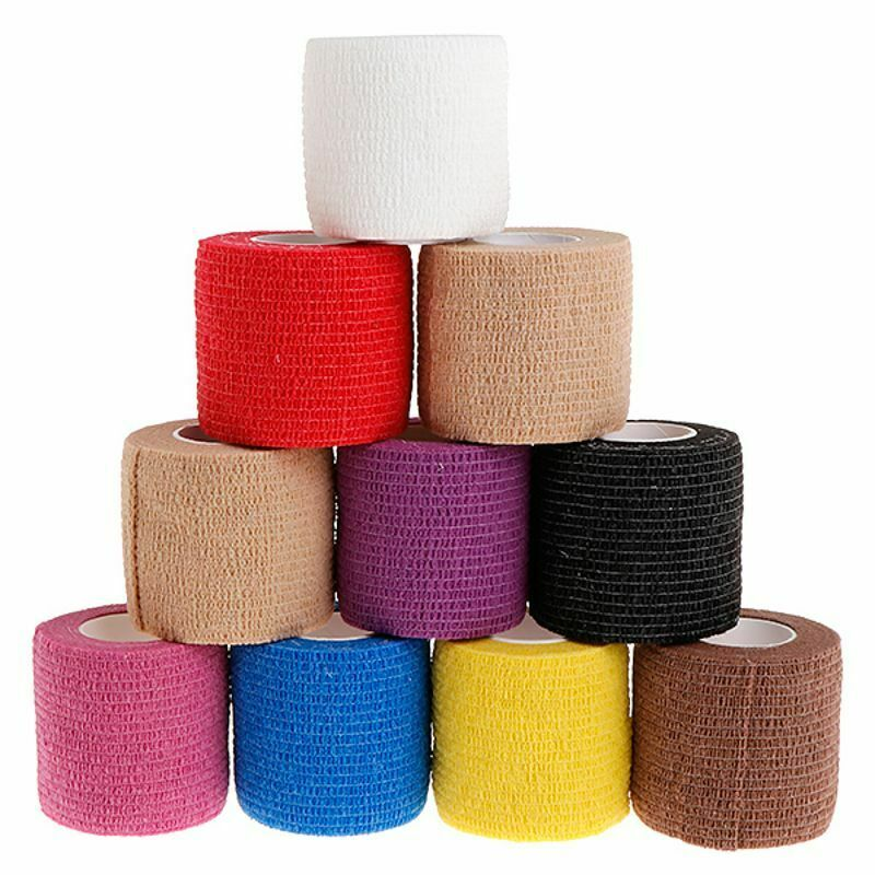 6pcs tattoo self adhesive elastic 5cm wide elbow tattoo handle bandage nail tapes finger protection wrap non slip cloth tape 1pc 5cm Disposable Self-adhesive Tattoo Elastic Grip Bandage Wrap Sport Tape