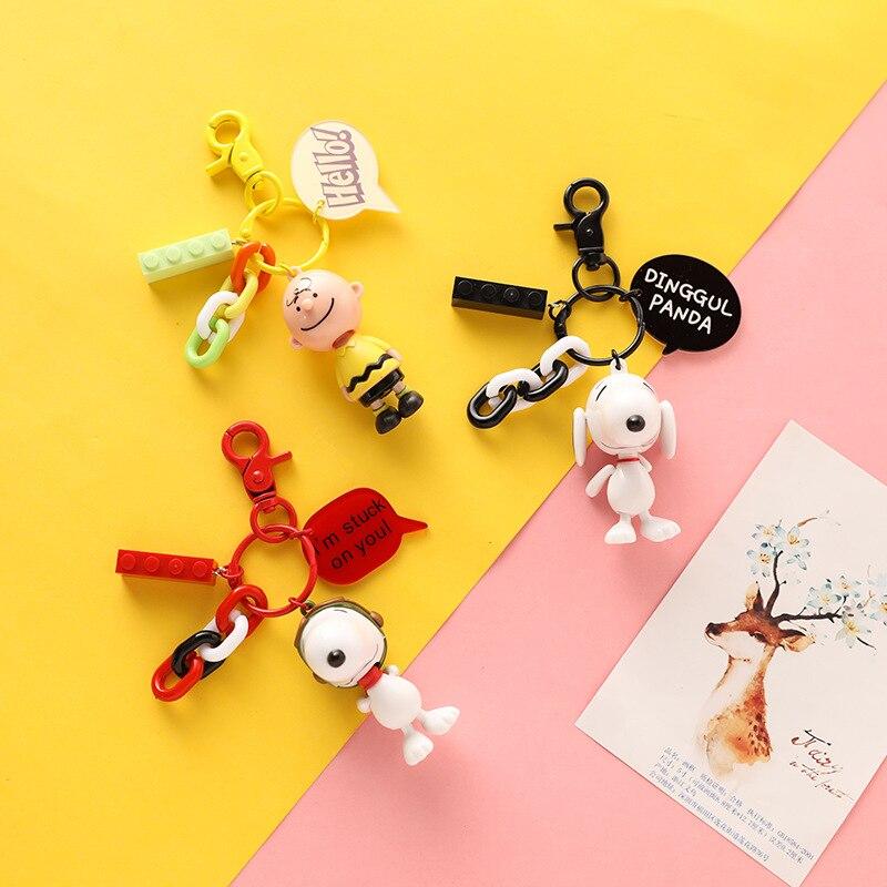 ¡Novedad de 2020! Llavero de coche de dibujos animados de Charlie Puppy, joya dije colgante de moda para regalo de cumpleaños para adultos o niños
