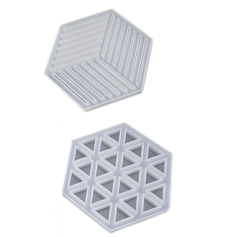 Coaster Concrete Silicone Mould Diamond Stripe Shaped Design Diy Epoxy Resin Gypsum Crafts Cement Tray Mold