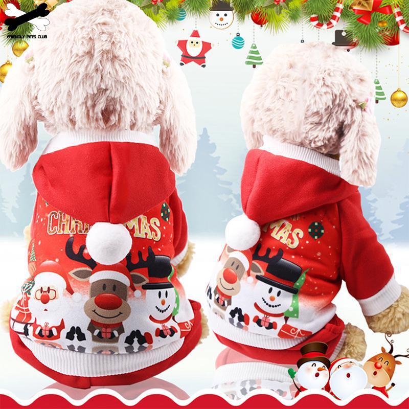 Ropa de perro de Navidad abrigo rojo patrón perro mascota perro árbol invierno Navidad ropa lindo abrigo invierno otoño 28
