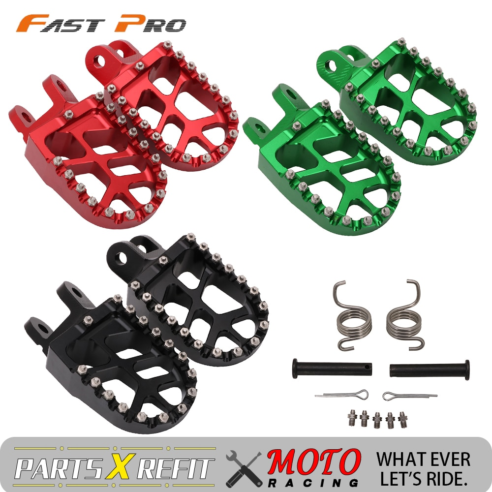 دراجة نارية مسند Footpegs القدم بقية فوس الوتد لهوندا CR85 XR250 XR450 XR350R XR600R CRF1000L XR 250 450 350 600 CRF230L