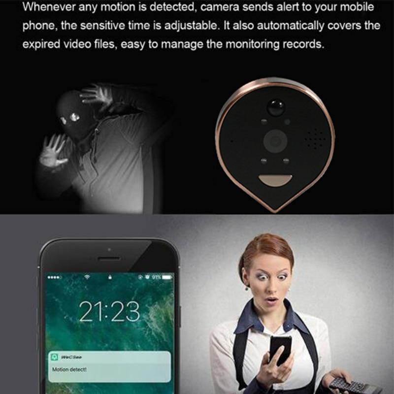 4.3 Inch Smart wifi Door peephole Camera home Video eye Doorbell HD1080P Night PIR Mobile Phone IOS Android Wecsee & tuya APP enlarge