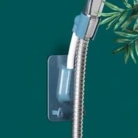 k1ka 360 degree flexible adjustable shower head holder bracket universal punch free wall mounted adhesive rack with 2 hooks