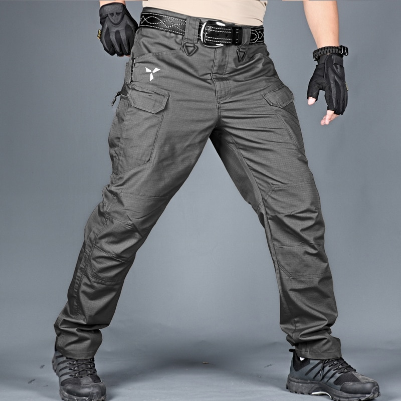 AliExpress - Trousers for men Tacitcal Pants Multiple Pocket Military Urban Commuter Waterproof Men Pants Slim Fat Work Cargo Pants 5XL