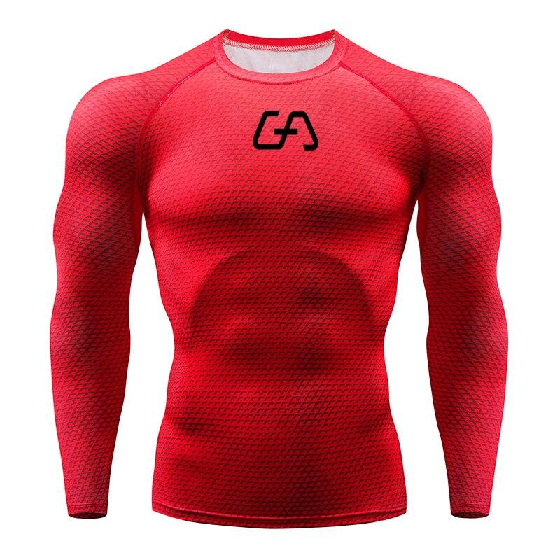 2020 Running Shirt Men 3D Print Gym Fitness Long Sleeve Running T-Shirt Brand Bodybuilding workout Shirts Tops