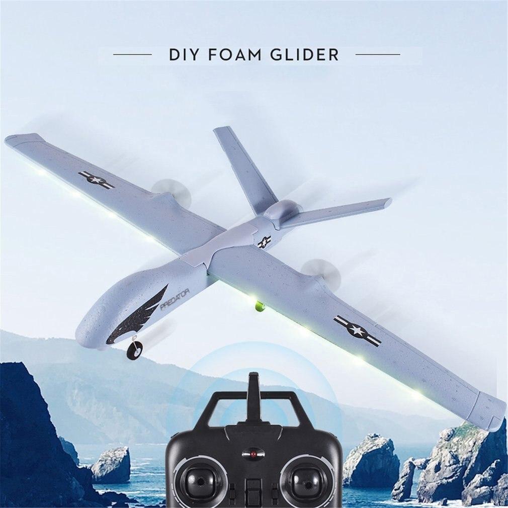 Z51 RC Airplane 2.4G 2CH Predator Remote Control 660mm Wingspan Foam Hand Throwing Glider Drone DIY