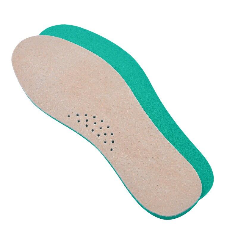 Primavera cuero almohadilla de choque piel de cerdo desodorante sudor absorción mayor plantilla entrenamiento zapatos casuales suela duradera 36-45
