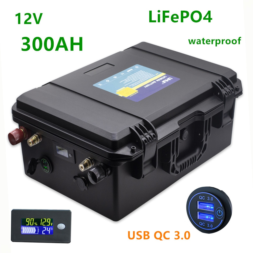 12v Lifepo4 300ah battery pack lifepo4 12V 300AH lithium battery pack 12.8v batteries  solar battery 12v 300ah for RV, inverter