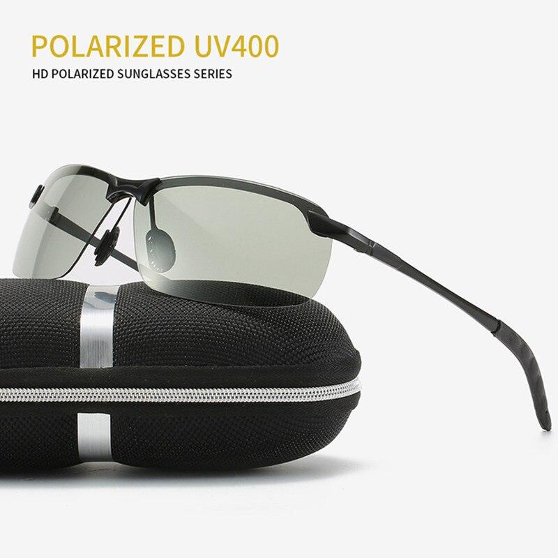 Солнцезащитные очки для мужчин и женщин, поляризационные очки-хамелеоны для вождения, фотохромные Меняющие цвет солнцезащитные очки, 2021