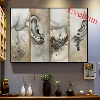 vintage women la mode bijoux poster and print wall art canvas painting ear decorations nordic modular pictures living room decor