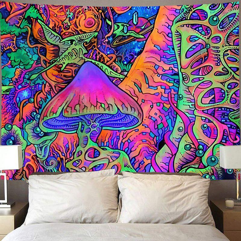 Tapiz de moda impreso tapicería para el hogar cama colgante para pared cubre decoraciones de la pared personalizado tapicería para el hogar Decoración de tapicería