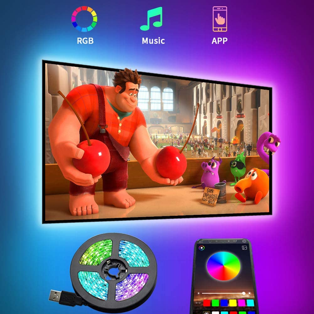 10M Bluetooth LED Backlight Strip Megulla USB Powered RGB Magic Color LED Lights Strip Bias TV Light