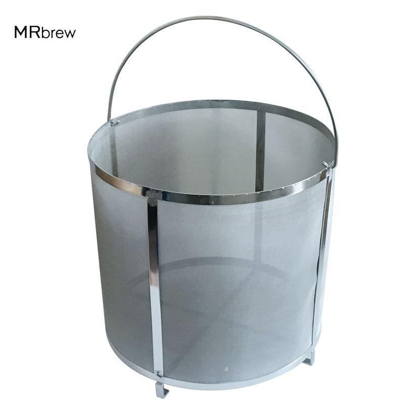 304 Stainless Steel Beer Wine House Home Brew Filter Basket Strainer Barware Bar Tools Filter Bag for Jelly Jams Homebrew Barrel