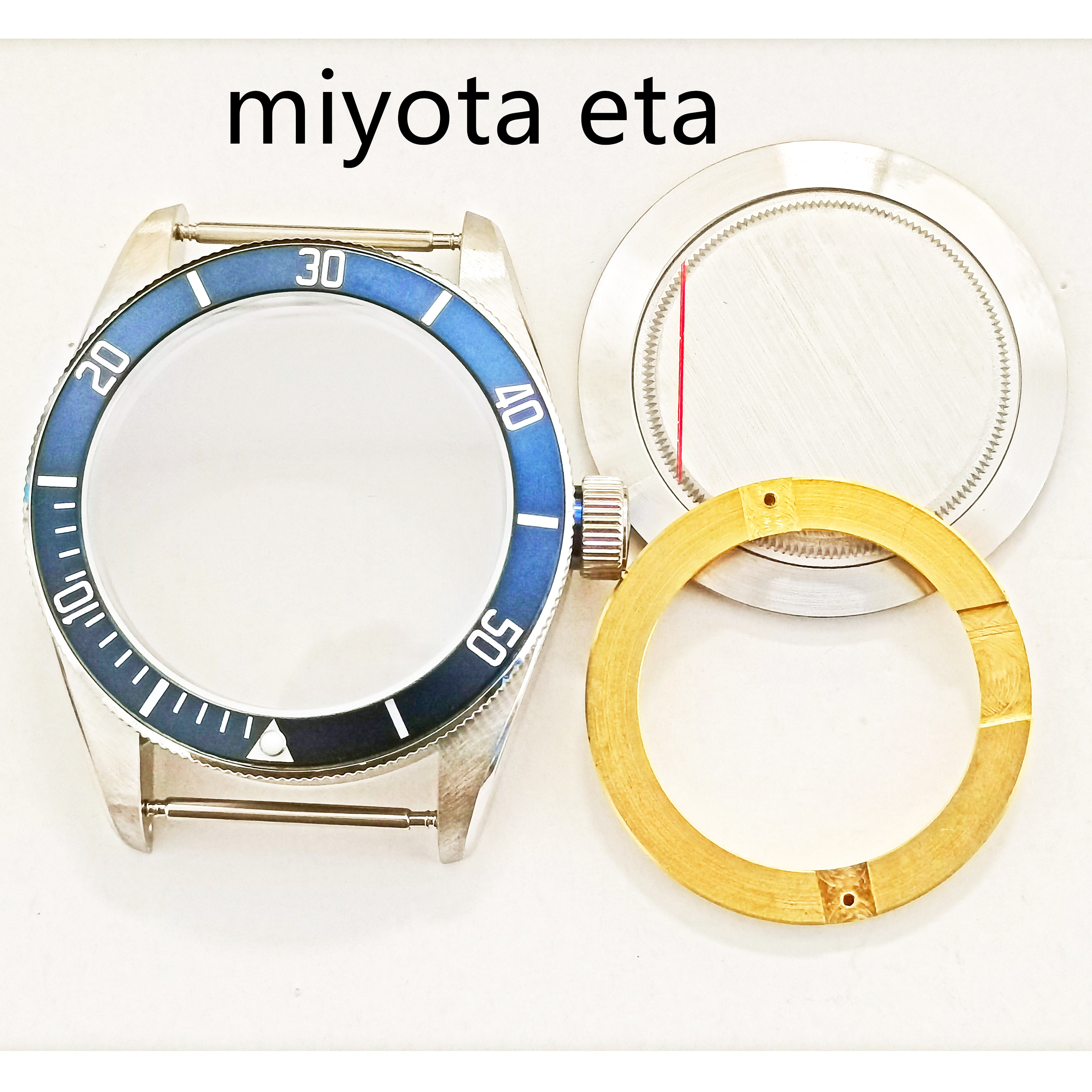 40MM  Man's Watch Part 316 Stainless Steel Case 30MM Dial And Hands Fit ETA 2836/2892 ST2130 Miyota8205 8215 Automatic Movement enlarge