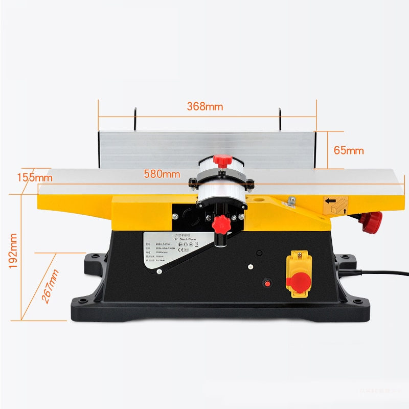 LIVTER 6''  free shipping and tax duty Woodworking Portable Electric Jointer Wood Surface  Jointer in SA and European Countries enlarge