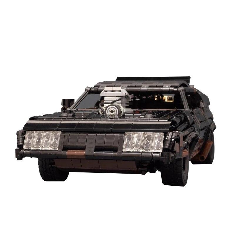MOC-35846 ماكس الأسود المعترض RC العضلات سيارة سوبركار نموذج اللبنات موتور التحكم عن بعد اللعب هدية