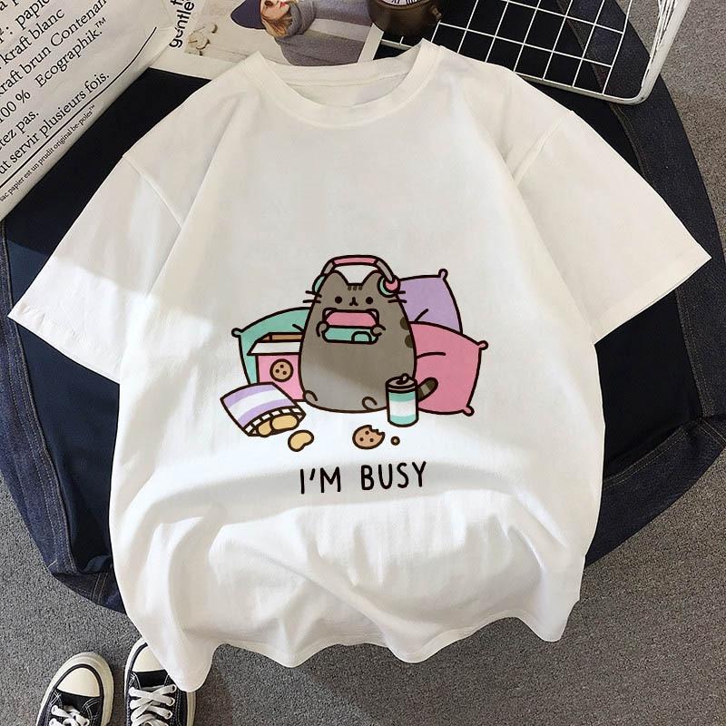 AliExpress - Kawaii Fat cat t shirt Kids New summer cute fashion Children t-shirt Thin section Hipster Girls Tshirt Tops clothing, BAL541
