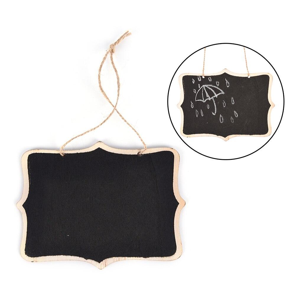 Деревянная настенная черная доска с веревкой/деревянная доска для записей/доска для сообщений 12*16*0,25 см SD & HI