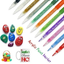 12 pièces  6 pièces pour stylo Flash acrylique peinture stylo peinture stylo étudiant Art stylo peinture Art Mark bricolage carte Production
